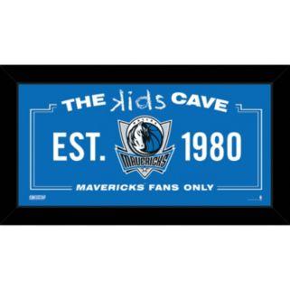 "Steiner Sports Dallas Mavericks 10"" x 20"" Kids Cave Sign"