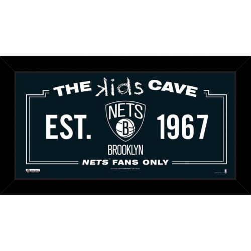 Steiner Sports Brooklyn Nets 10″ x 20″ Kids Cave Sign
