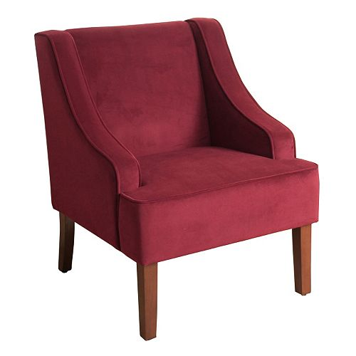 HomePop Velvet Accent Chair