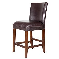 HomePop Luxury Bar Stool 24-in.