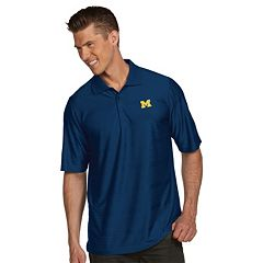 Men's Antigua Michigan Wolverines Illusion Desert Dry Extra-Lite Performance Polo