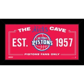 "Steiner Sports Detroit Pistons 10"" x 20"" Kids Cave Sign"