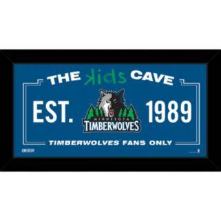 "Steiner Sports Minnesota Timberwolves 10"" x 20"" Kids Cave Sign"