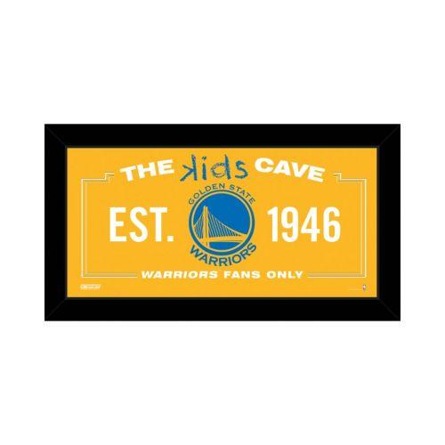 Steiner Sports Golden State Warriors 10″ x 20″ Kids Cave Sign