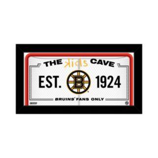 """Steiner Sports Boston Bruins 10"""" x 20"""" Kids Cave Sign"""