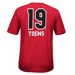 Men's Reebok Chicago Blackhawks Jonathan Towes Player Name and Number Tee
