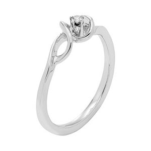 Sterling Silver Diamond Accent Spiral Promise Ring