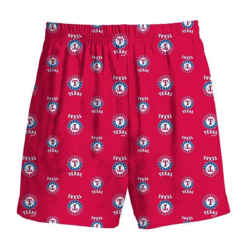 Boys 8-20 Majestic Texas Rangers Team Logo Lounge Shorts