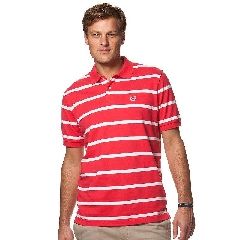 Men's Chaps Classic-Fit Striped Pique Polo