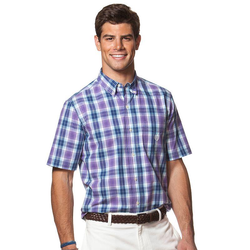 Men's Chaps Classic-Fit Plaid Poplin Button-Down Shirt