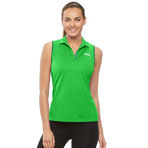 6db79e2b Women's FILA SPORT® Linear Sleeveless Golf Polo