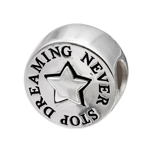 """Individuality Beads Sterling Silver """"Never Stop Dreaming"""" Bead"""