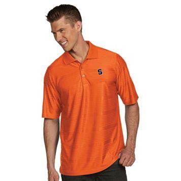 Men's Antigua Syracuse Orange Illusion Desert Dry Extra-Lite Performance Polo