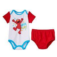 Baby Boy Sesame Street Elmo Bodysuit Set
