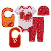 Baby Boy Sesame Street Elmo 5 pc Layette Gift Set