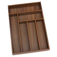 Lipper 6-Slot Acacia Wood Flatware Organizer