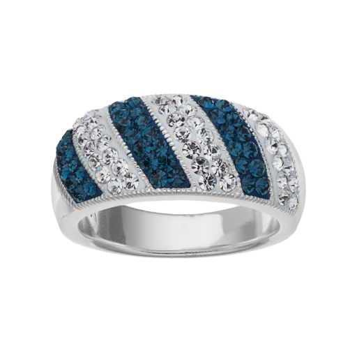 Crystal Luxuries Crystal Striped Ring