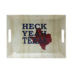 Celebrate Local Life Together 'Heck Yeah Texas' 14-in. Rectangular Serving Tray
