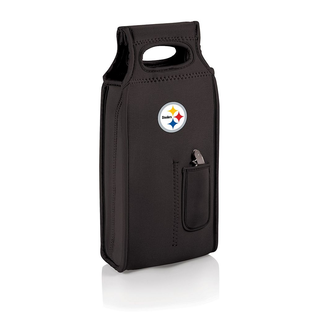 Picnic Time Pittsburgh Steelers Samba 2-Bottle Insulated Wine Tote