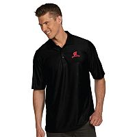 Men's Antigua Wisconsin Badgers Illusion Desert Dry Extra-Lite Performance Polo