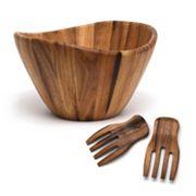 Lipper 3 pc Acacia Wood Salad Bowl & Server Set