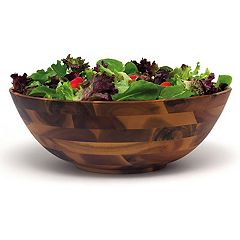 Lipper 14 in Acacia Wood Serving Bowl