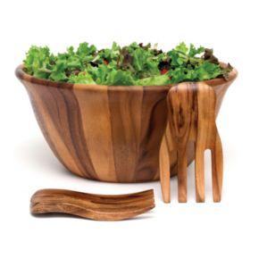 Lipper 3-pc. Acacia Wood Salad Bowl & Salad Hands Set