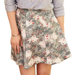 Disney's Bambi a Collection by LC Lauren Conrad Women's Floral Scuba Skirt