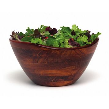 Lipper Wavy 12-in. Acacia Wood Serving Bowl