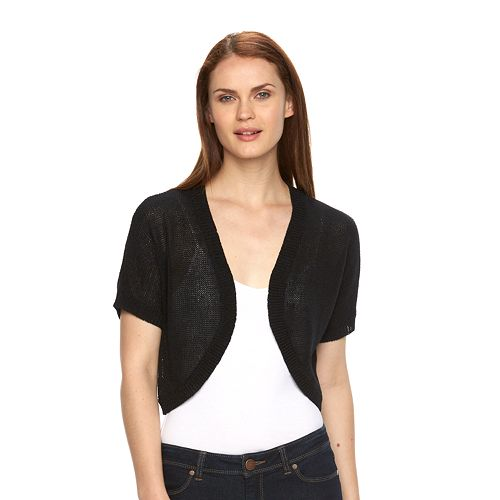 245ce13a Women's Croft & Barrow® Solid Textured Shrug