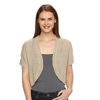Women's Croft & Barrow® Solid Textured Shrug