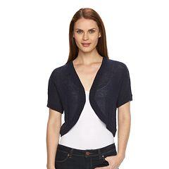 Women's Croft & Barrow® Solid Textured Shrug