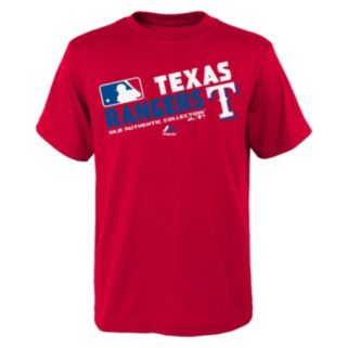 Boys 8-20 Majestic Texas Rangers AC Team Choice Tee