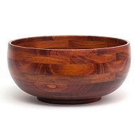 Lipper 12 in Acacia Wood Serving Bowl