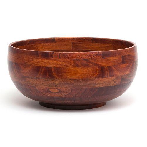 Lipper 12-in. Acacia Wood Serving Bowl