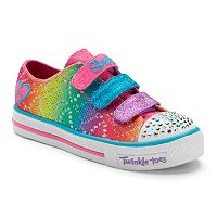 Skechers Twinkle Toes Shuffles Rainbow Madness Girls' Light-Up Sneakers