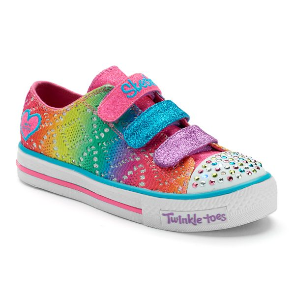 Ciudadano Tropezón Pasado  Skechers Twinkle Toes Shuffles Rainbow Madness Girls' Light-Up Sneakers