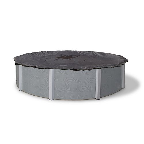 Blue Wave Rugged Mesh Round Above-Ground Winter Pool Cover for 12-ft. Pool
