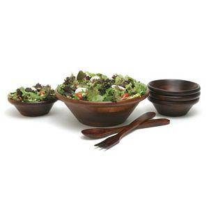 Lipper 7-pc. Acacia Wood Salad Bowl & Server Set