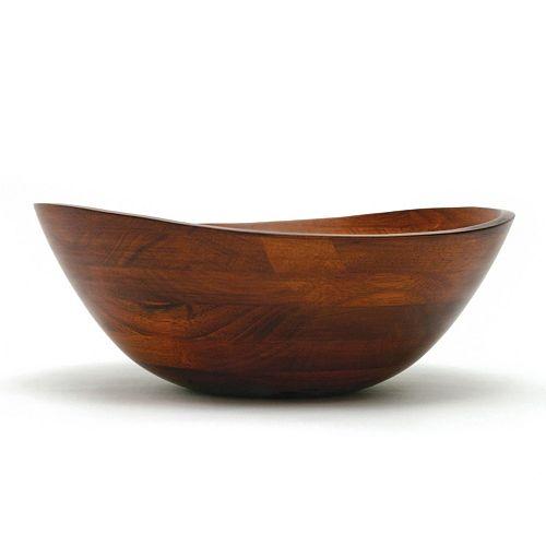 Lipper Wavy 13-in. Acacia Wood Serving Bowl