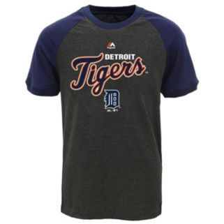 Boys 8-20 Majestic Detroit Tigers Game Time Ringer Tee