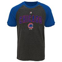 Boys 8-20 Majestic Chicago Cubs Game Time Ringer Tee