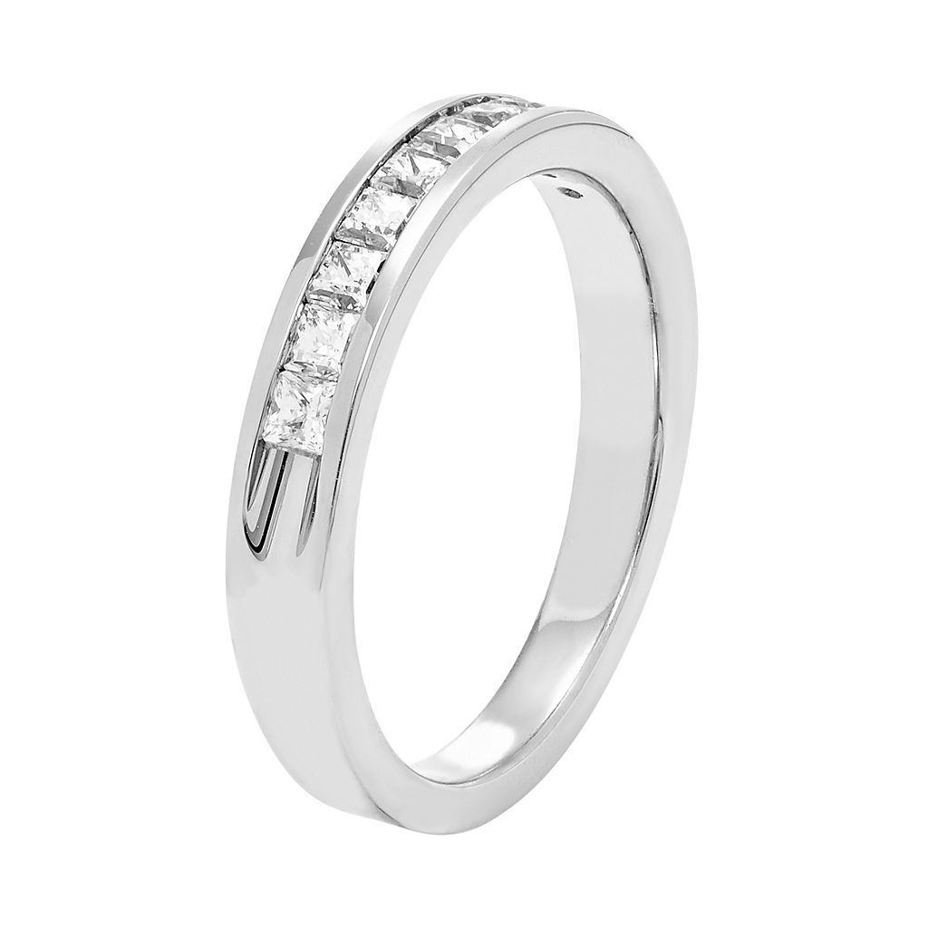 14k White Gold 1/2 Carat T.W. Diamond Anniversary Ring
