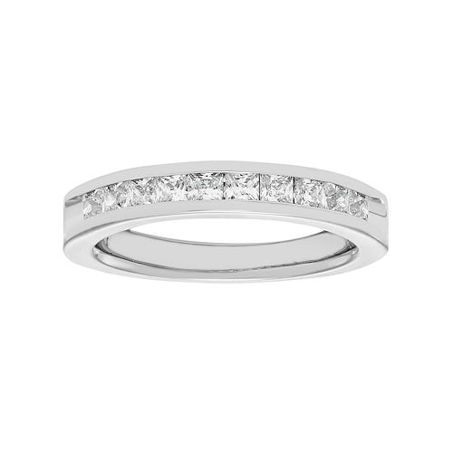 14k White Gold 3/4 Carat T.W. Diamond Anniversary Ring