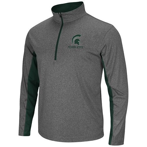 Big & Tall Campus Heritage Michigan State Spartans Stinger 1/2-Zip Pullover