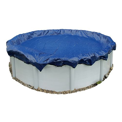 Blue Wave Gold-Grade Round Above-Ground Winter Pool Cover for 12-ft. Pool