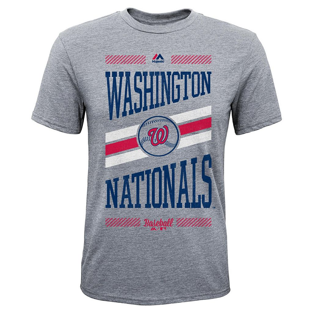 Boys 8-20 Majestic Washington Nationals Team Patriot Tee