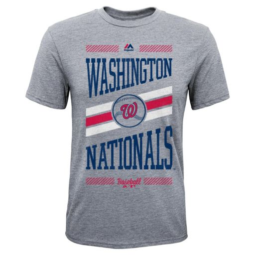 Boys 8-20 Majestic Washington Nationals Team Patriot Tee