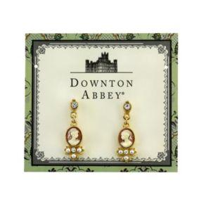 Downton Abbey Cameo Drop Earrings