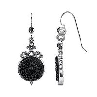 Downton Abbey Filigree Medallion Drop Earrings